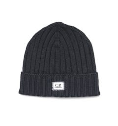 CP Company Patch Logo Charcoal Grey Beanie
