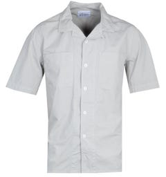 Albam Short Sleeve Revere Collar Grey Shirt