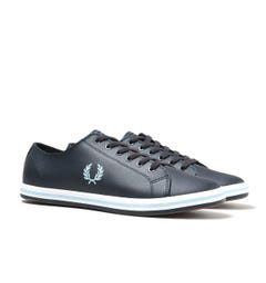 Fred Perry Kingston Leather Navy Trainers