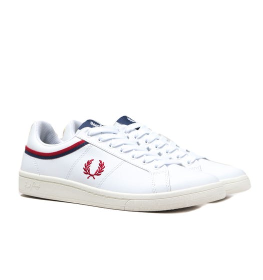 Fred Perry B721 Tipped Leather White Trainers