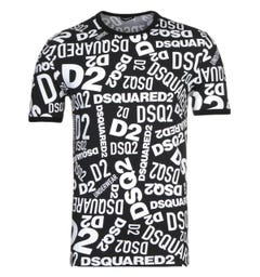 DSquared2 All Over Print T-Shirt & Trunk Set