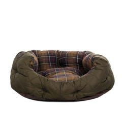 Barbour Quilted Olive Green 24IN Dog Bed
