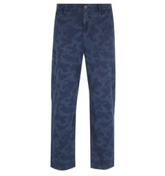 Farah Relaxed Tapered Fit Navy Camo Trousers