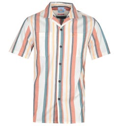 Farah Bloomfield Orange Stripe Short Sleeve Shirt