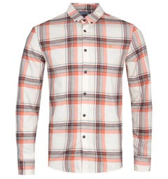 Farah Butterfield White Check Slim Fit Shirt
