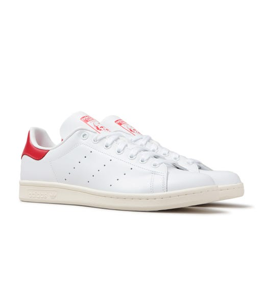 Adidas Originals Stan Smith White & Red Trainers