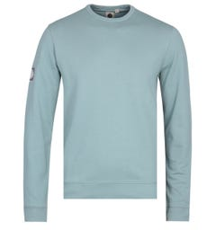Pretty Green Foden Blue Crew Neck Sweatshirt