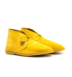 Pretty Green Suede Yellow Desert Boots