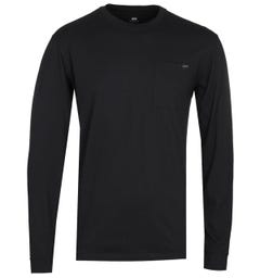 Edwin Trapper Black Long Sleeve Pocket Tee