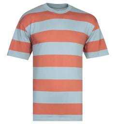 Edwin Quarter Olive & Blue Stripe T-Shirt