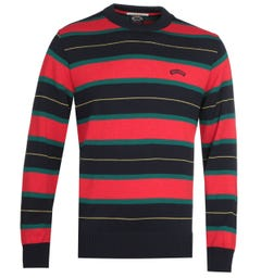 Paul & Shark Red Striped Sweater