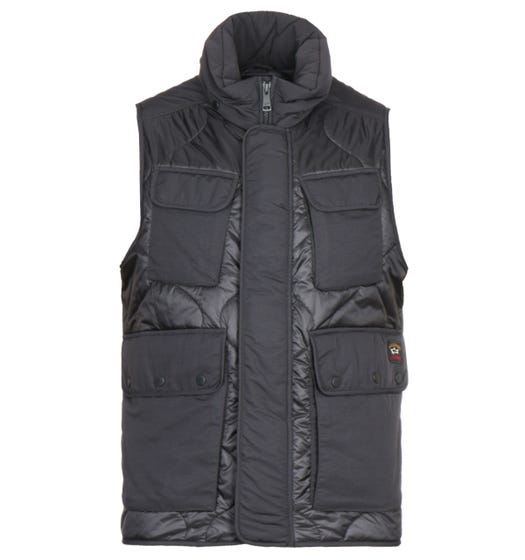 Paul & Shark Black Woven Gilet