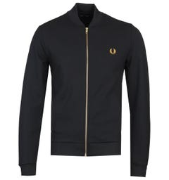 Fred Perry Twill Black Track Jacket