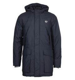 Fred Perry Padded Navy Zip Through Jacket