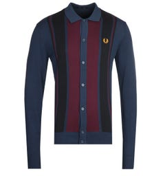 Fred Perry Colour Block Knitted Polo Shirt