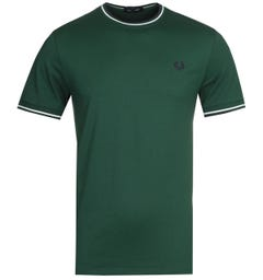Fred Perry Twin Tipped Green T-Shirt