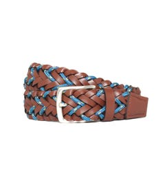 Paul Smith Woven Cord Brown Belt