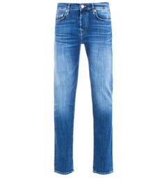 True Religion Rocco Relaxed Skinny Jeans - Blue Denim