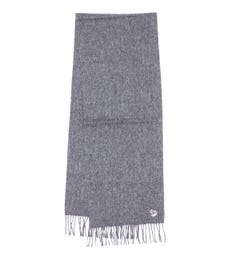 PS Paul Smith Zebra Patch Lambswool Grey Scarf