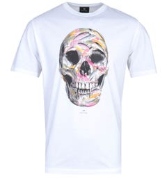 PS Paul Smith Skull Print White T-Shirt