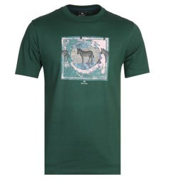 PS Paul Smith Zebra Logo Green T-Shirt