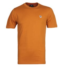 PS Paul Smith Small Zebra Logo Burnt Orange T-Shirt