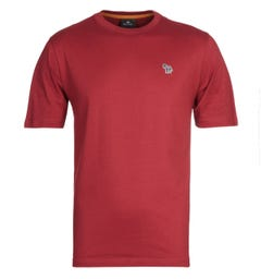PS Paul Smith Small Zebra Logo Red T-Shirt
