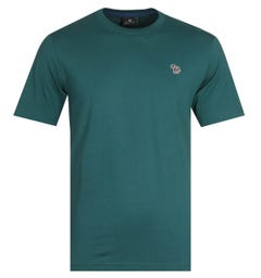 PS Paul Smith Small Zebra Logo Teal T-Shirt
