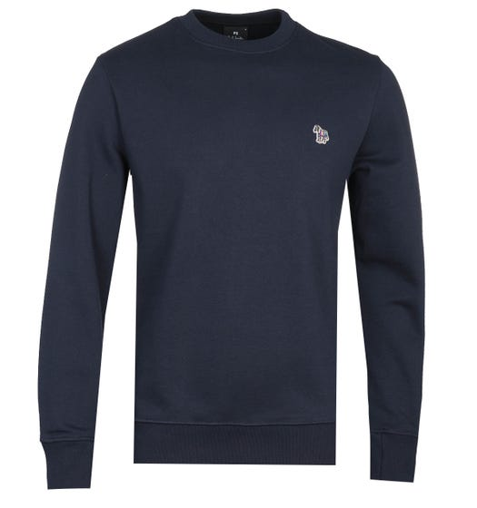 PS Paul Smith Regular Fit Zebra Logo Navy Crew Neck Sweatshirt