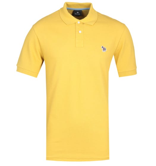 PS Paul Smith Regular Fit Zebra Logo Yellow Polo Shirt