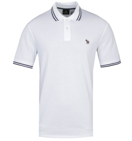 PS Paul Smith Regular Fit Short Sleeve Tipped White Polo Shirt