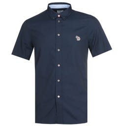 Paul Smith Tailored Navy Short Sleeve Shirt