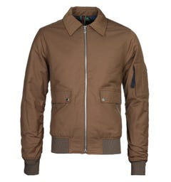 PS Paul Smith Collared Olive Bomber Jacket