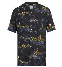 Paul Smith Mountain Print Short Sleeve Shirt