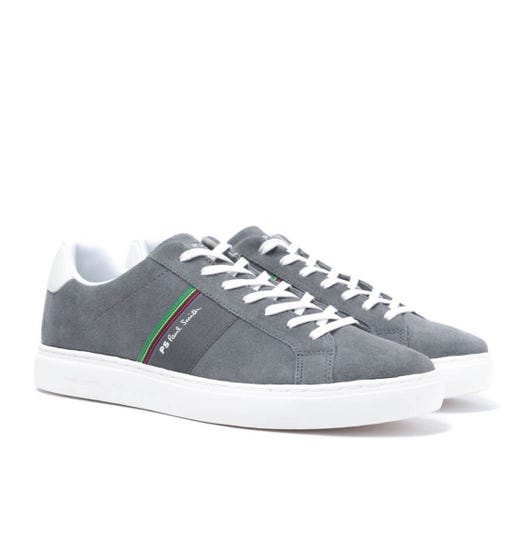 PS Paul Smith Rex Stone Grey Suede Trainers