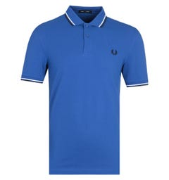 Fred Perry Twin Tipped Navy Blue Polo Shirt