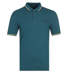 Fred Perry M3600 Twin Tipped Blue Polo Shirt