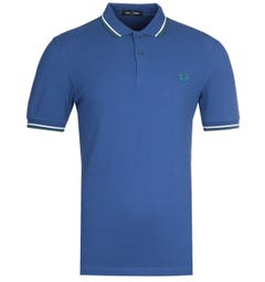 Fred Perry M3600 Twin Tipped Nautical Blue Polo Shirt