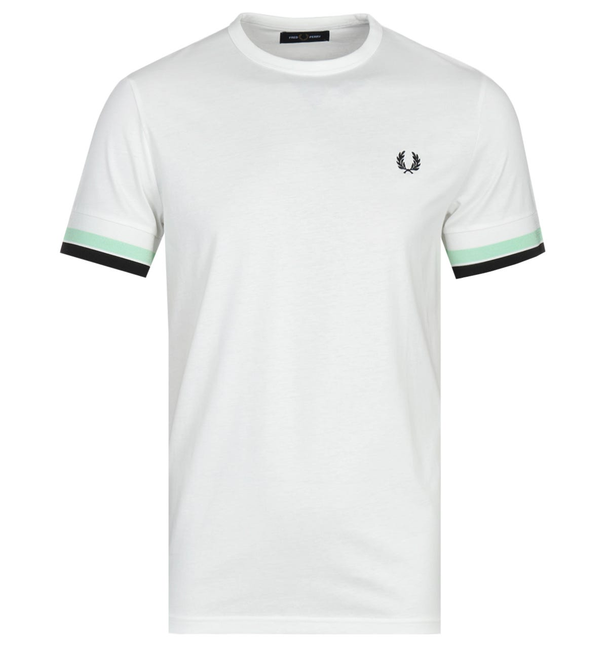 Fred Perry Bold Tipped White T-Shirt