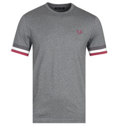 Fred Perry Bold Tipped Grey T-Shirt