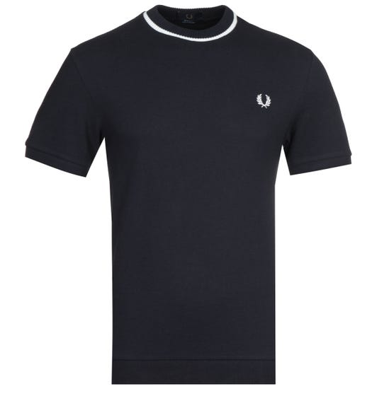 Fred Perry Tipped Crew Neck Navy T-Shirt