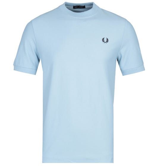 Fred Perry Cotton Pique Port White Logo T-Shirt