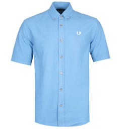 Fred Perry Overdyed Rivera Blue Shirt
