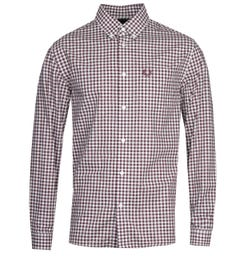 Fred Perry Gingham Long Sleeve Red Shirt