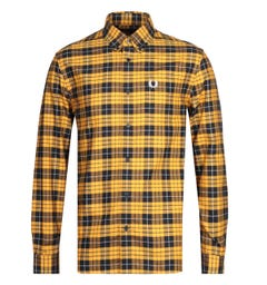 Fred Perry Yellow Tartan Oxford Shirt