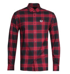 Fred Perry Bold Red Tartan Shirt