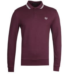 Fred Perry Long Sleeve Mahogany Tipped Polo Shirt