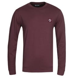 MA.Strum Long Sleeve Burgundy Icon T-shirt