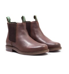 Barbour Farsley Brown Leather Chelsea Boots