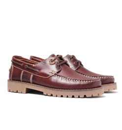 Barbour Stern Smooth Leather Mahogany Boat Shoes